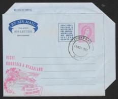 RHODESIA & NYASALAND Aerogramme 6d Queen 1958 Luanshya Cancel Fishing Cachet! STK#X21332 - Rhodesia & Nyasaland (1954-1963)