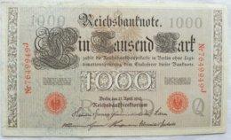 Billete Alemania. 1000 Marcos. 1910. Serie Roja. - [ 2] 1871-1918 : German Empire