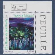 = Yann Kersalé L'Ô/ Musée Du Quai Branly à Paris Série Artistique Valeur 1.90€ En Bord De Feuille N°4935 Coin De Feuille - Unused Stamps