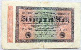 Billete Alemania. 20.000 Marcos. 20-2-1923. Marca G D - [ 3] 1918-1933 : República De Weimar
