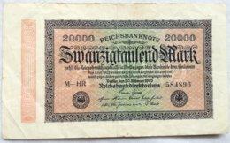 Billete Alemania. 20.000 Marcos. 20-2-1923. Marca L. - [ 3] 1918-1933 : República De Weimar