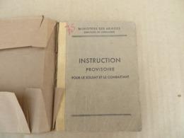 Instruction Provisoire Pour Le Soldat Et Le Combattant - 64/01 - Andere