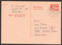 DDR Auslands-Ganzsache 25 Pfg. Berlin Mit Fernsehturm 4.11.86, P87I - Postales - Usados