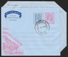 RHODESIA & NYASALAND Aerogramme 6d Queen 1959 Luanshya Cancel Giraffe Game Reserves Cachet! STK#X21335 - Rhodesia & Nyasaland (1954-1963)