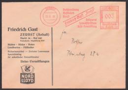 Germany Zerbst AFS 1939 'Friedrich Gast Buchhaltung Musikalien Heimatschrifttum!' Bücher Bilder Noten Drucksache - Affrancature Meccaniche Rosse (EMA)