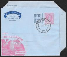 RHODESIA & NYASALAND Aerogramme 6d Queen 1959 Luanshya Cancel Zimbabwe Ruins Cachet! STK#X21337 - Rhodesia & Nyasaland (1954-1963)