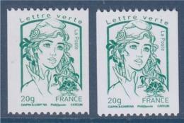 = Marianne Et La Jeunesse Ciappa Kawena 2 Roulettes N°4778 Verso Blanc (119) Et Plutôt Jaunâtre (308) - Roulettes