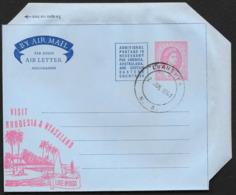 RHODESIA & NYASALAND Aerogramme 6d Queen 1959 Luanshya Cancel Lake Nyasa Cachet! STK#X21339 - Rhodesia & Nyasaland (1954-1963)