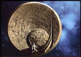 Postcard. Belarus. Medal. Autographs Of Astronauts. Space. - Monete (rappresentazioni)