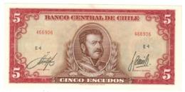 Chile, 5 Escudos Aunc/UNC. - Chili