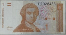 Billete Croacia. 1 Dinar. 1991 - Kroatië