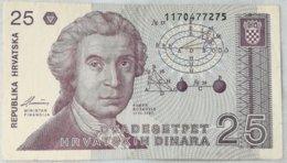 Billete Croacia. 25 Dinares. 1991. - Croazia