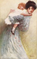 """""""Mary Horsfall. Mother Carrying  Little Daughter"""" Tuck Oilette Me Lover Pick-a-pak Ser. - Tuck, Raphael"""