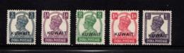 KUWAIT    1945    King  George  VI    Overprint     5  Values    MH - Kuwait