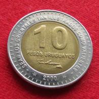 Uruguay 10 Pesos 2000 KM# 121 *V2  Uruguai - Uruguay