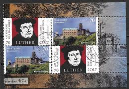 Allemagne 2017 N°3085 Et 3095 Oblitérés Luther Et  Europa Chateaux - Usati