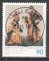"""Österreich 2019: """"Weihnachten-Goldene Sams-Krippe""""   Gestempelt (s.Foto) - 1945-.... 2nd Republic"""