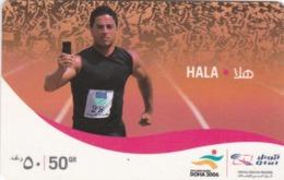 Qatar, HA-VO-019, Hala (Qtel) - Mobile Refill, Runner, 2 Scans. - Qatar