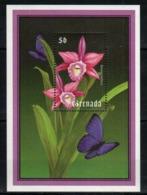 Grenade  Orchids Orchidées Butterfly Papillon MNH - Orchidées