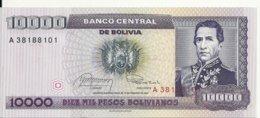 BOLIVIE 10000 PESOS  BOLIVIANOS  D1984 UNC P 169 - Bolivië