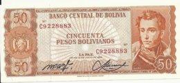 BOLIVIE 50 PESOS BOLIVIANOS  L1962 UNC P 162 - Bolivië