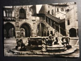 19832) BERGAMO ALTA ANTICA FONTANA IN PIAZZA VECCHIA VIAGGIATA 1951 - Bergamo