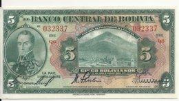 BOLIVIE 5 BOLIVIANOS  L.1928 AUNC P 120 - Bolivië