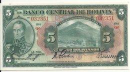BOLIVIE 5 BOLIVIANOS  L.1928 UNC P 120 - Bolivië