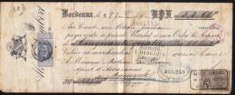 France Bordeaux 1900 / Bank Check, Cheque / Banque Auxiliare De La Bourse - Cheques En Traveller's Cheques