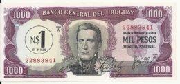URUGUAY 1 NUEVO PESO ND1975 UNC P 55 - Uruguay