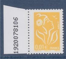 = Marianne De Lamouche Philaposte 0.01€ Jaune 3731a Neuf - 2004-08 Maríanne De Lamouche