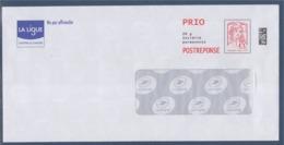 = Marianne Et La Jeunesse Postréponse Prio La Ligue Contre Le Cancer, Port Payé 182026, Neuf - Prêts-à-poster: Réponse /Ciappa-Kavena