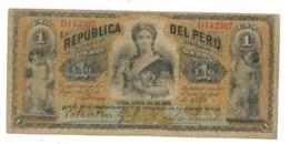 Peru 1 Sol 1879, VG. - Perú