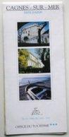 Plan De CAGNES-sur-MER  (1992-1993)  - Avec Publicités         ***  /P92 - Dépliants Turistici