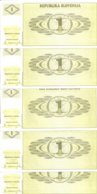 SLOVENIE 1 TOLAR 1990 UNC P 1 ( 5 Billets ) - Slovénie