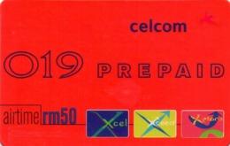 MALASIA. Celcom 019 Prepaid Airtime. 11/2003. MY-Celcom-31A. (003) - Malasia