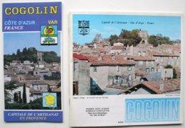 2 Documents Publicitaires - COGOLIN Capitale De L'artisanat En Provence  - Avec Nbx Publicités  (années 80)  ***  /P93 - Dépliants Turistici