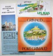 4 Docs Publicitaires (1984) GRIMAUD - PORT-GRIMAUD - Dont Brochure (+ Plan) 60 Pp. Avec Nbx Publicités (2 Scans) ** /P94 - Dépliants Touristiques