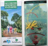 2 Docs Touristiques - Parcs Forestiers Des Alpes-Maritimes - Jardins Provence Cote D'Azur - 06 *** /P95 - Dépliants Turistici