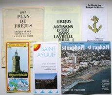 6 Docs Touristiques (vers 1982)  - FREJUS - ST-RAPHAEL - SAINT-AYGULF - DRAGUIGNAN  *** /P96 - Dépliants Turistici