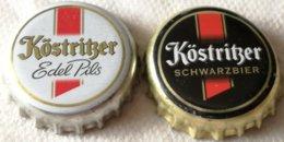 Lote 2 Chapas Kronkorken Caps Tappi Cerveza Kostritzer. Alemania - Cerveza