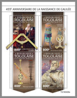 TOGO 2019 MNH Galileo Galilei Astronom Astronomer Astronome M/S - OFFICIAL ISSUE - DH1945 - Astronomia