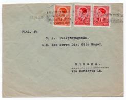 1940 YUGOSLAVIA, SLOVENIA, LJUBLJANA TO MILANO, ITALY, FLAM, PROPAGANDA, BUY GOVERNMENT BONDS - 1931-1941 Royaume De Yougoslavie