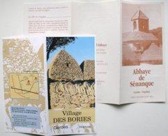 5 Documents Publicité - VENASQUE - Abbaye SENANQUE - Village Des BORIES - GORDES Vaucluse (4 Scans) Tapisseries ** /P106 - Folletos Turísticos