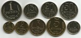 SSSR Russia 1989. Complete Coin Set,high Grade - Russland