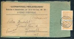 PORTUGAL - N° 66 (2) / BANDE DE JOURNAL D' AVEIRO LE 7/1/1895 POUR GRENOBLE - TB - Lettres & Documents