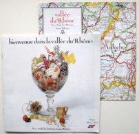 Brochure Touristique VALLEE Du RHONE (16 Pp + Plan Dépliant Hors-texte) Ain Ardèche Drôme Loire Rhône ** 2 Scans /P111a - Dépliants Turistici