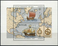 Danmark Féroe Faroer  CEPT 1992 Yvertn° Bloc 5 *** MNH Cote 16 Euro Christophe Colomb Columbus - 1992