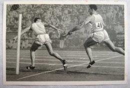 Foto Cromo Olimpiada De Los Ángeles. 1932. Nº 39. Atletismo 4 X 100 Metros Relevos. USA, Alemania. Hecho En 1936 Berlín - Tarjetas