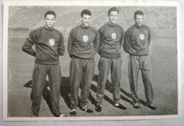 Foto Cromo Olimpiada De Los Ángeles. 1932. Nº 40. Atletismo 4 X 100 Metros Relevos. USA, Bill Carr, Karl Warner, Edgar A - Tarjetas